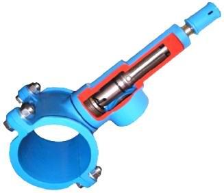 EFEKT Nawiertka samonawiercająca NS 5000, nóż ze stali nierdzewnej, do nawiercania pod ciśnieniem, nowe przyłącze pod ciśnieniem, bez użycia aparatu do nawiercania, z żeliwa szarego, z żeliwa sferoidalnego, umożliwia nawiercenie rury pod ciśnieniem, odejście gwintowane, do przyłączy domowych, nawiercania rur pe pvc hdpe, wykonanie przyłącza pod ciśnieniem