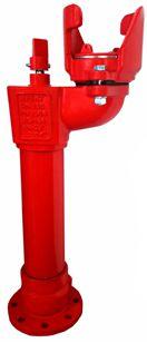 EFEKT hydrant podziemny DN100 EN14339, rura odwadniająca, ocynkowany ogniowo, pokryty powłoką elastomerową,  Przepływ Q, dla hydrantu dn 80, 16 bar, sprzęt pożarniczy, cechy konstrukcyjne, kołnierze owiercone zgodnie z, bez konieczności odkopywania hydrantu, pokryte fluidyzacyjnie, żywicą epoksydową,