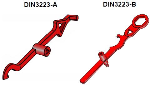 EFEKT klucze DIN3223A DIN3223-B