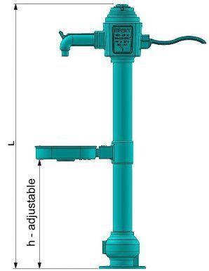 EFEKT S.A. manufacturer producer public water tap hydrant fountain portable drinking water dn 20 basket cast iron ductile iron bubbler drinking garden pump photo length installation data sheet